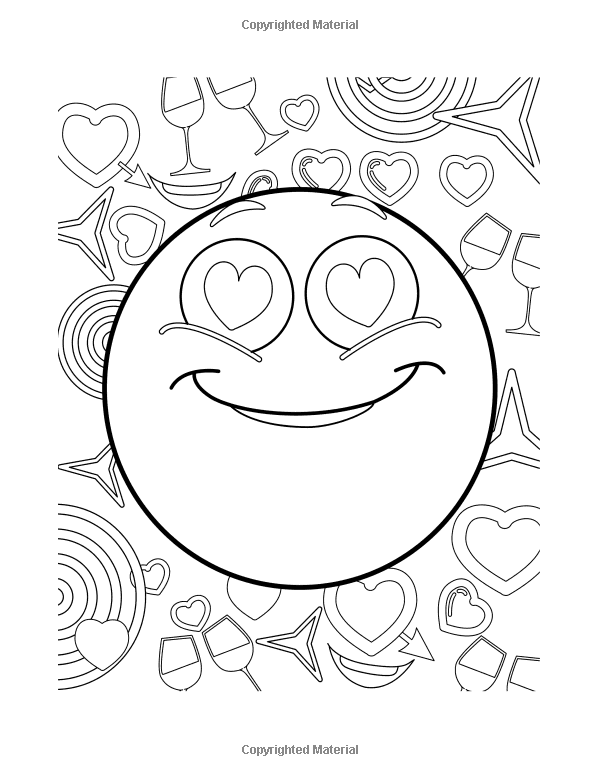 Amazon.com: Emoji Coloring Book: :Funny Stuff, Cute Faces and Inspirational  Quotes: Awesome Design… | Emoji coloring pages, Love coloring pages, Cute coloring  pages