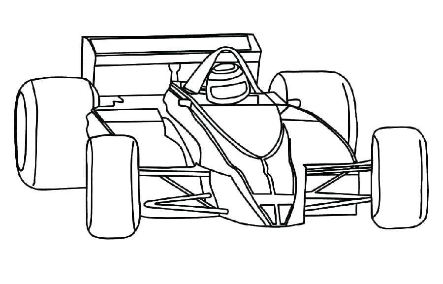 F1 Car Coloring Pages at GetDrawings | Free download