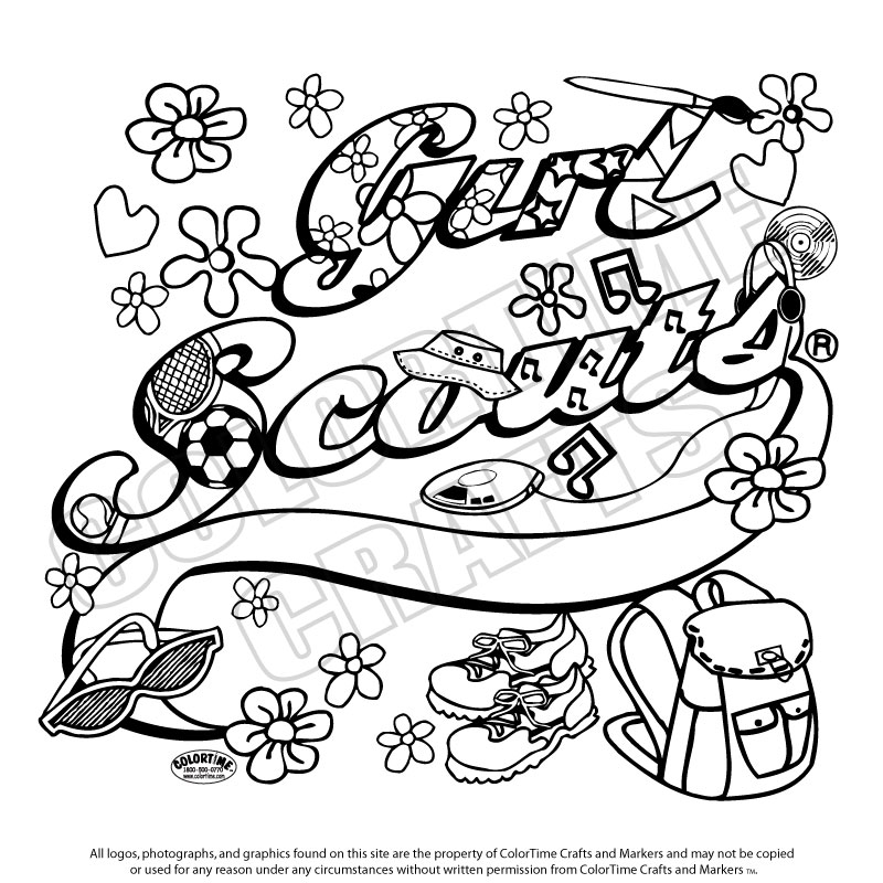 Girl scouts coloring pages coloring home for Girl scout coloring pages for daisies