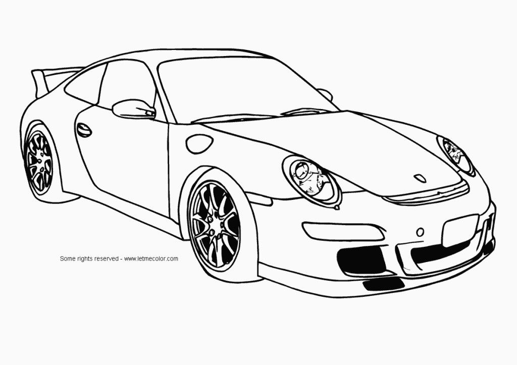 Cool Car - Coloring Pages for Kids and for Adults
