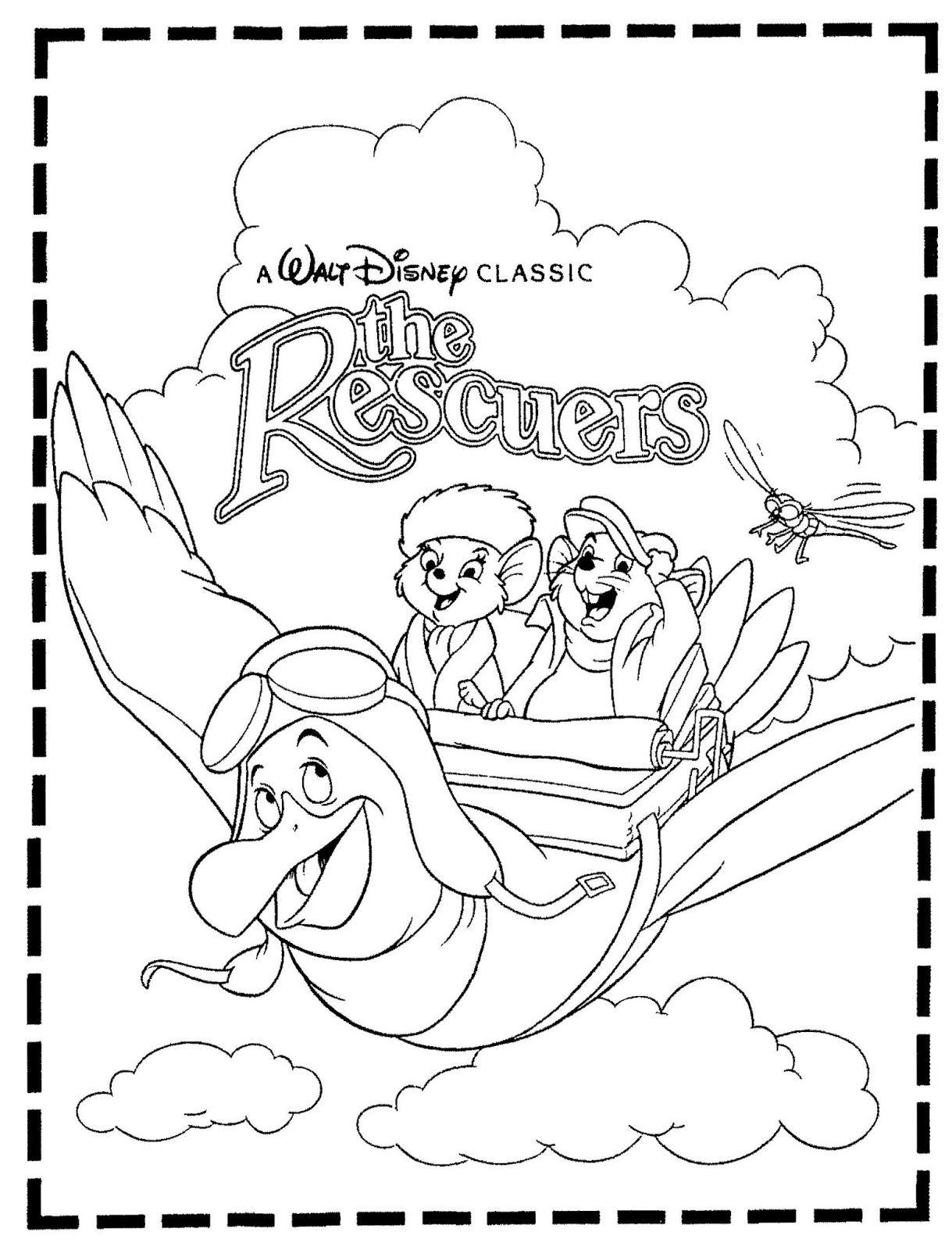 rescuers coloring pages coloring home