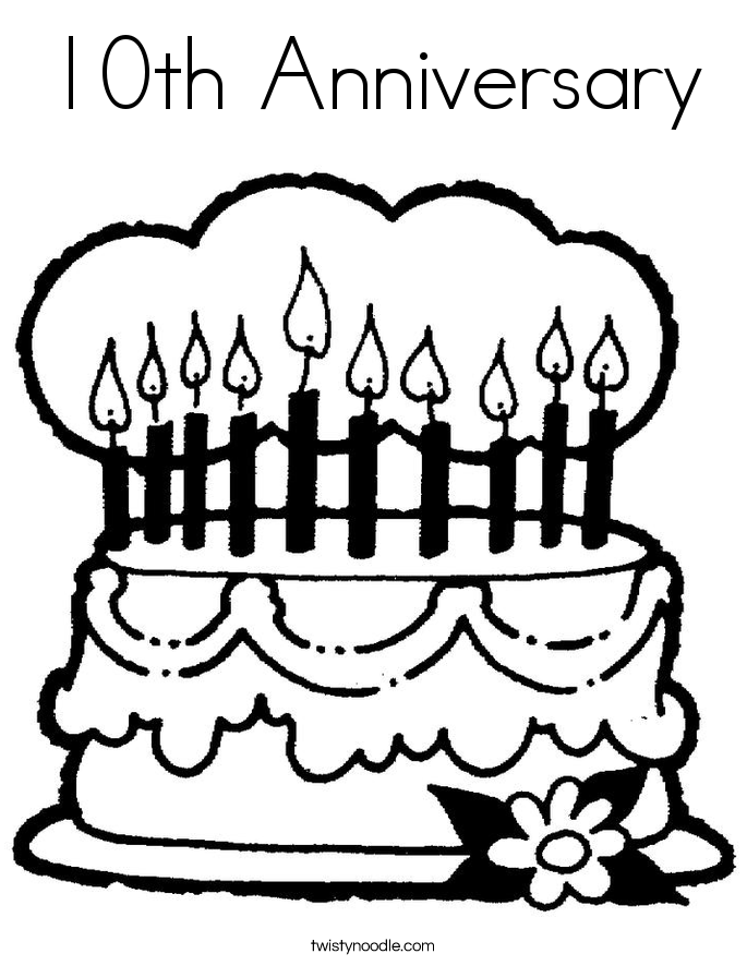 This is a picture of Juicy Happy Anniversary Coloring Page
