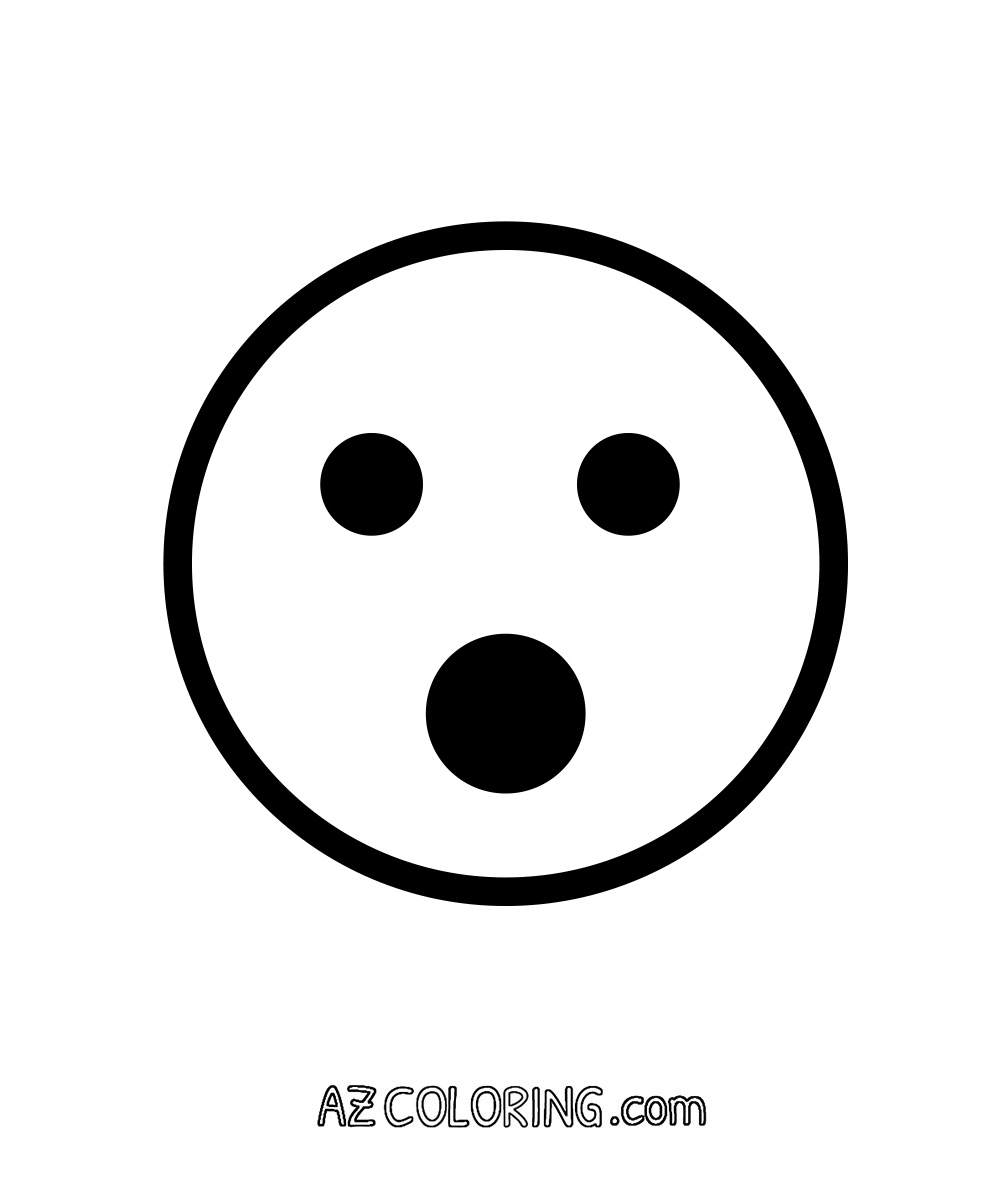 Face With Open Mouth, Surprised Emoji Coloring Page