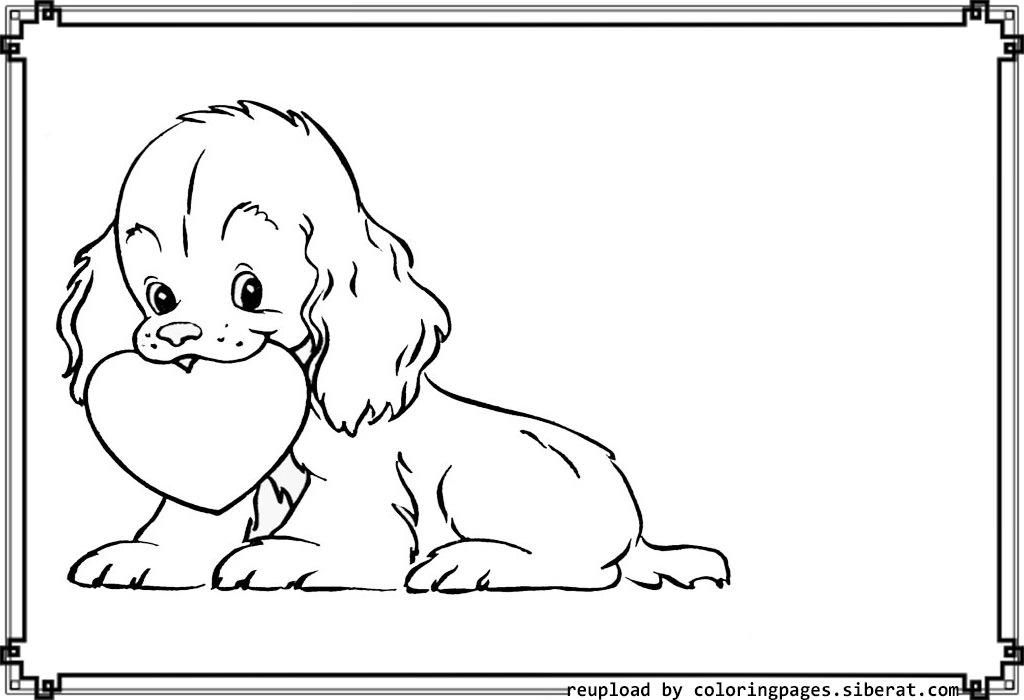 Puppy Love Coloring Pages 6 Cute Baby Puppy Coloring Pages