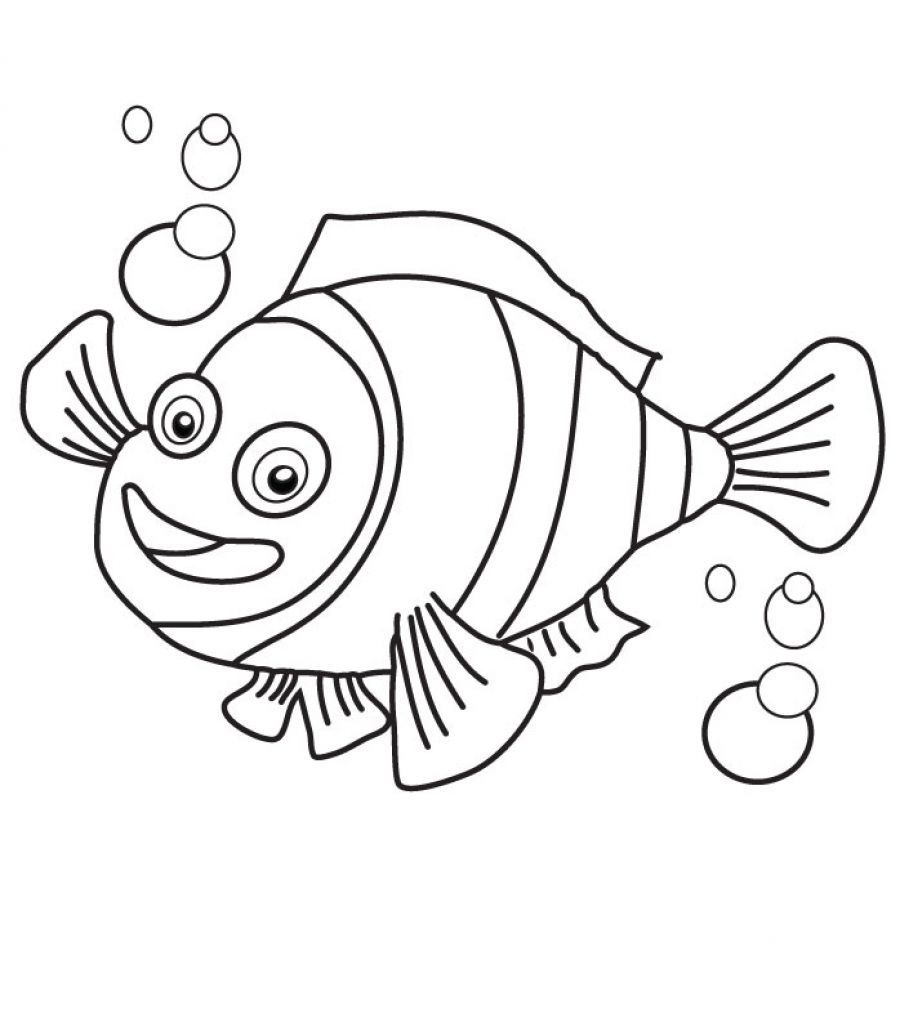 bass fish coloring pages - Printable Kids Colouring Pages