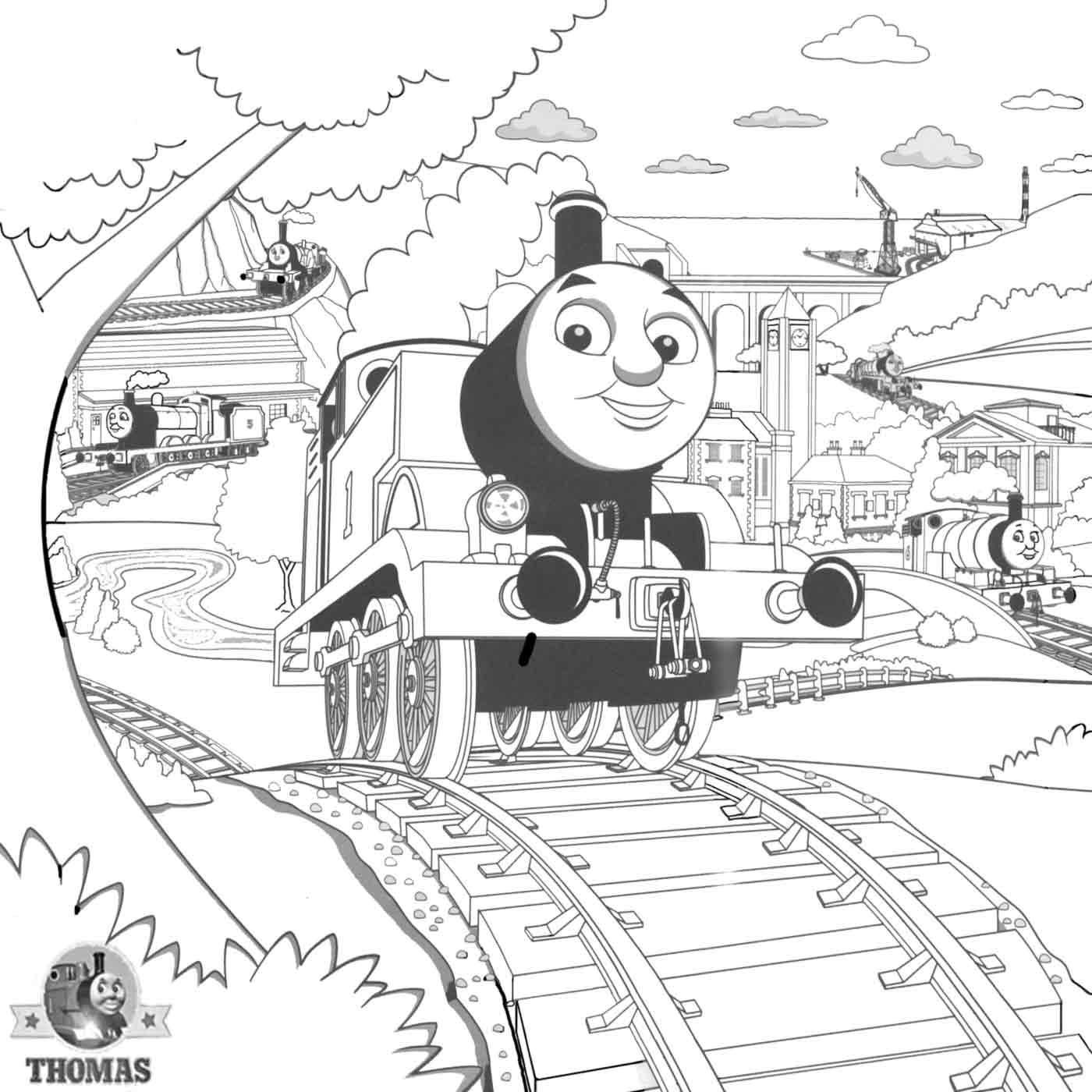 Steam Engine James Coloring Pages Coloring Home