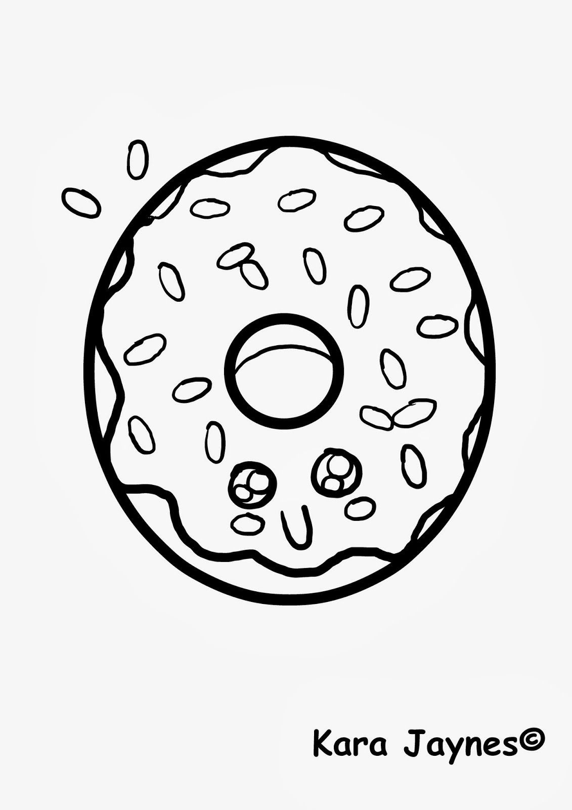 cute pictures coloring pages | Cute Kawaii Food Coloring Pages - Coloring Home