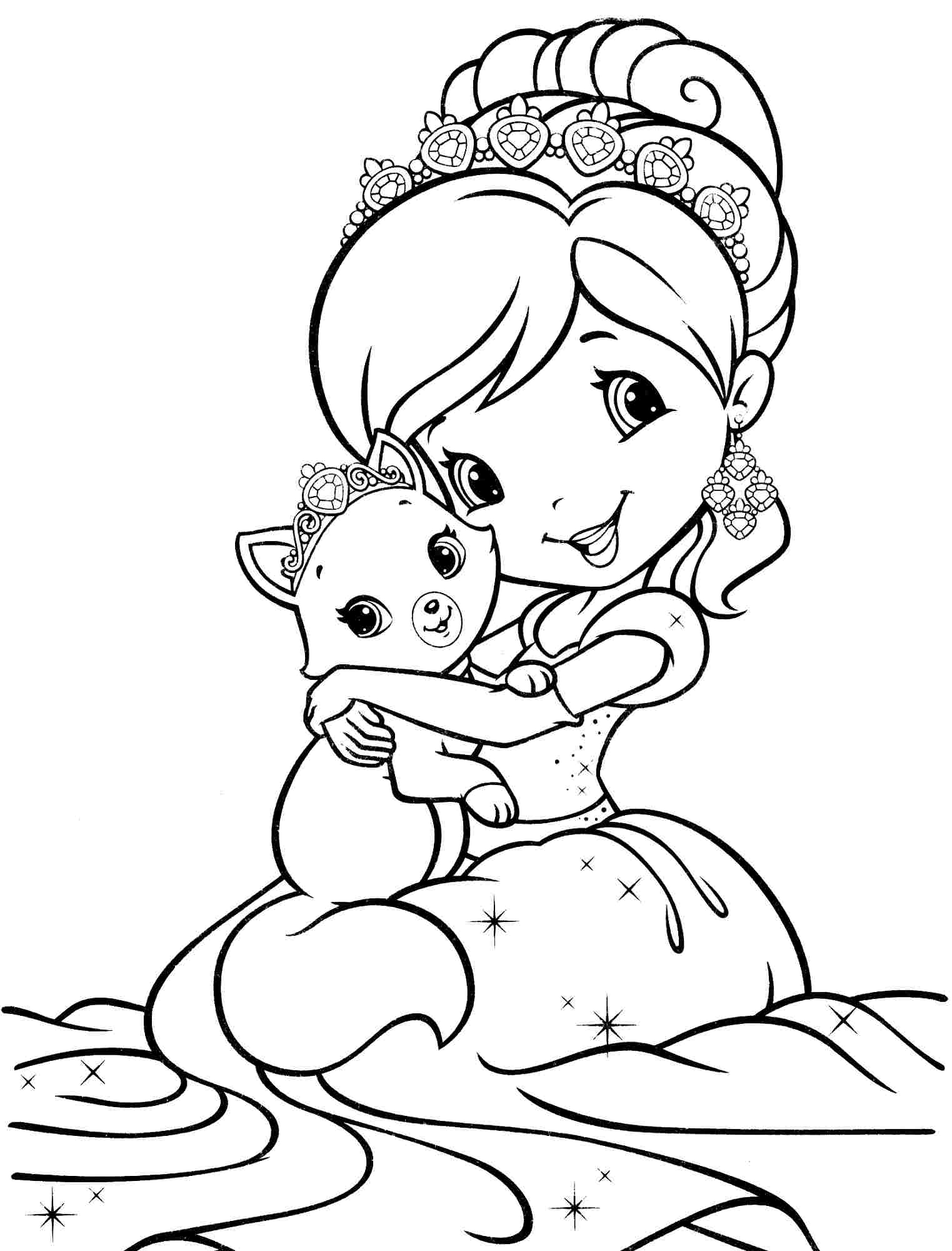 Strawberry Shortcake And All Friends Coloring Pages Coloring Home