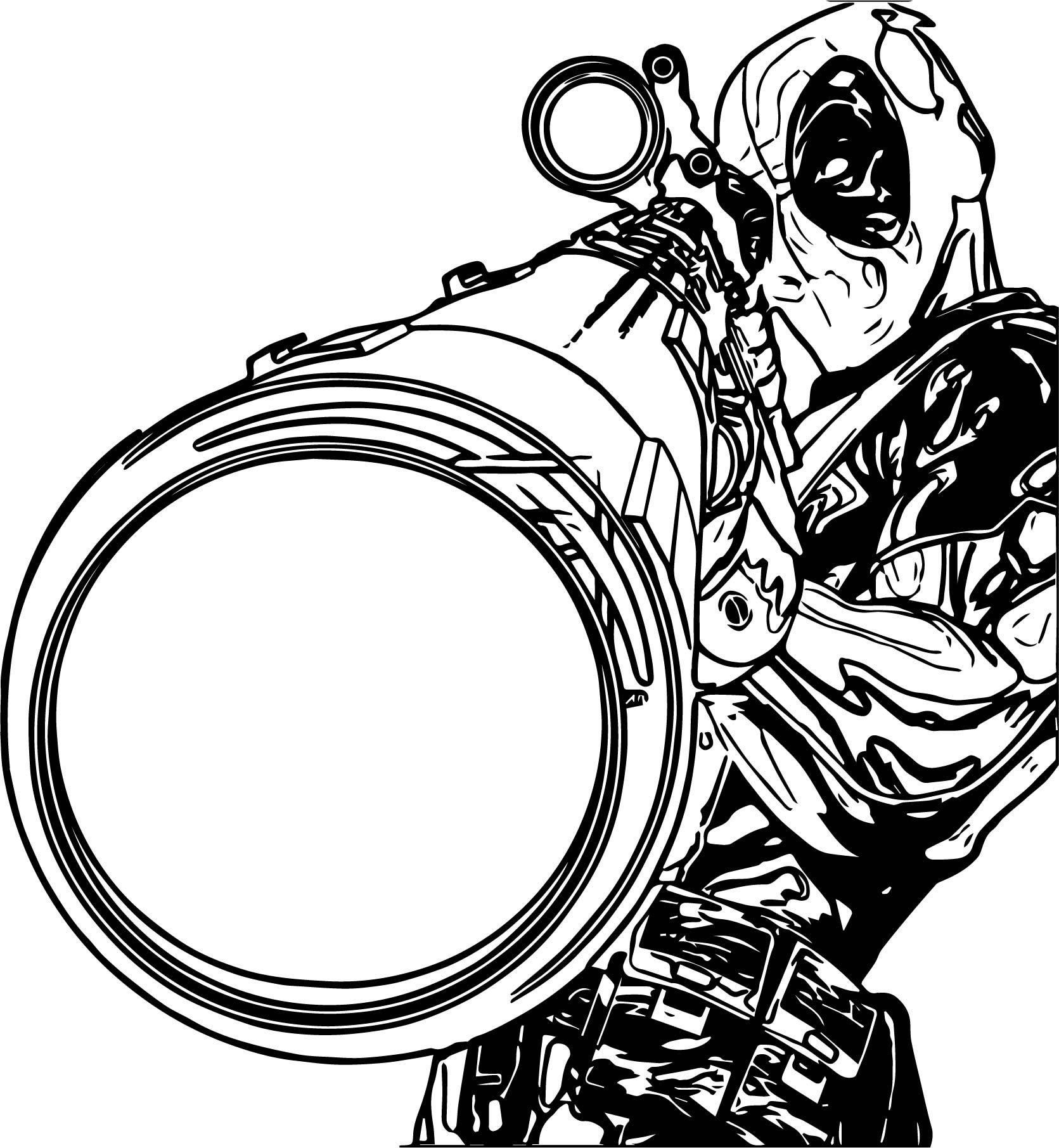 Deadpool Sniper Coloring Page | Coloring pages, Sniper, Coloring pages for  boys