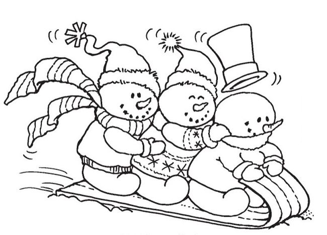 Stampendous - Cling Mounted Rubber Stamp - Snowy Sled | Christmas coloring  books, Christmas colors, Snowman quilt