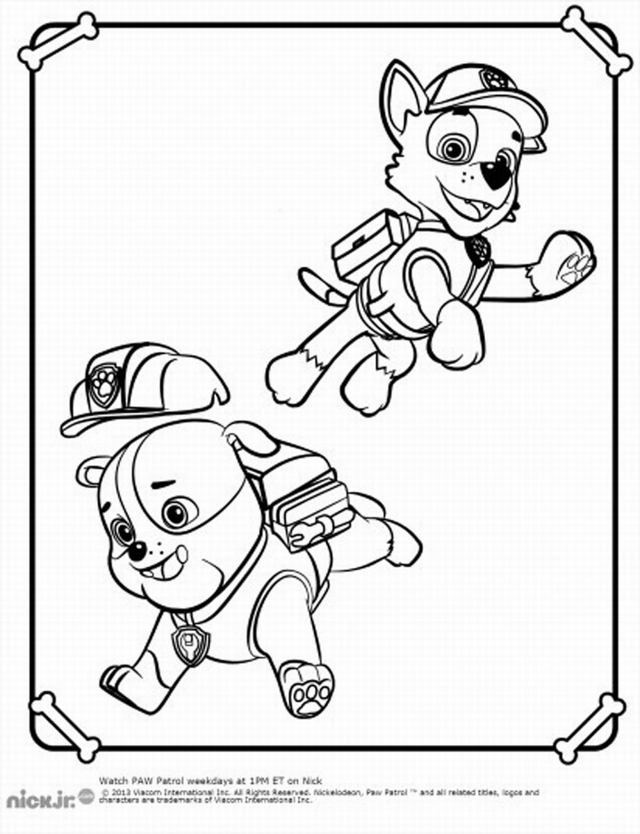 Paw Patrol Coloring Pages Download : Paw patrol coloring pages to print home