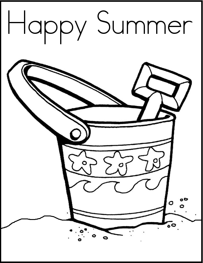 Summer Coloring Pages Preschool