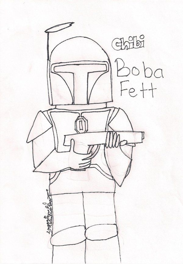 Boba Fett Coloring Page by YugaMizuno on DeviantArt