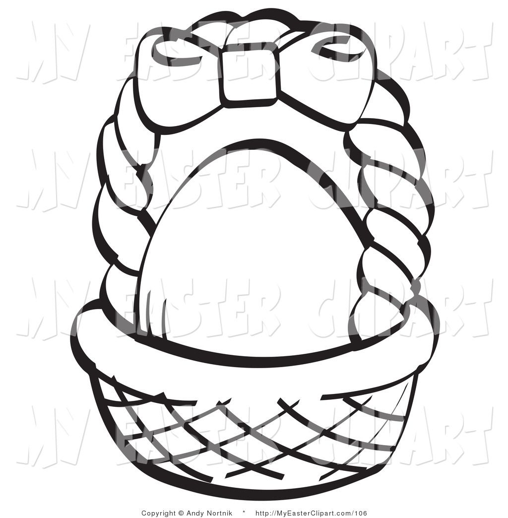 Empty Easter Basket Coloring Page - Coloring Home
