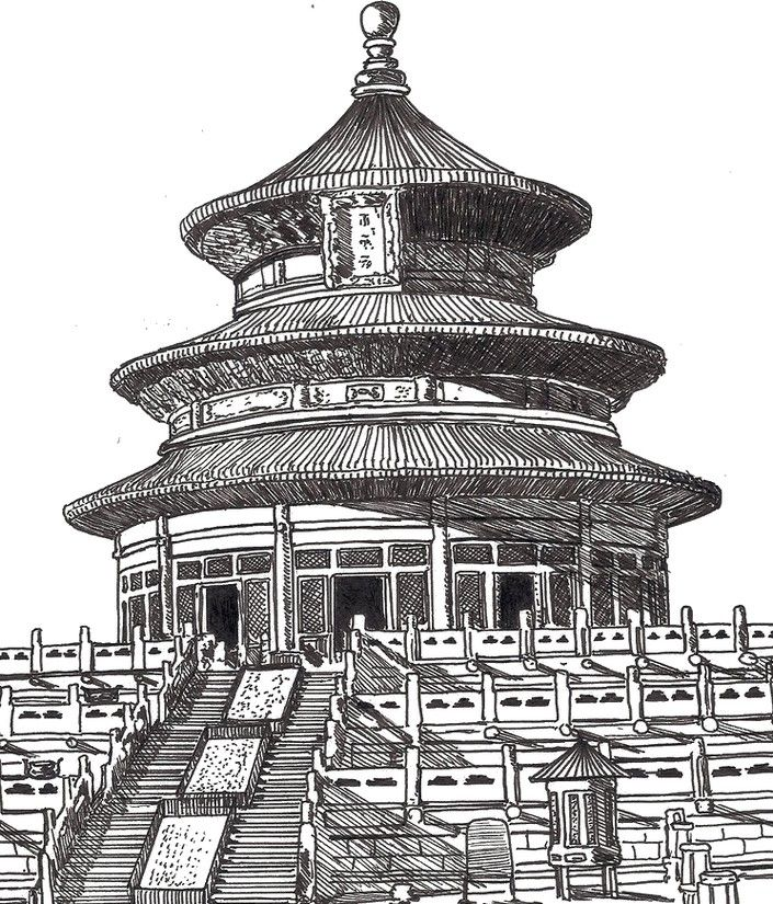 Adult Coloring Pages China