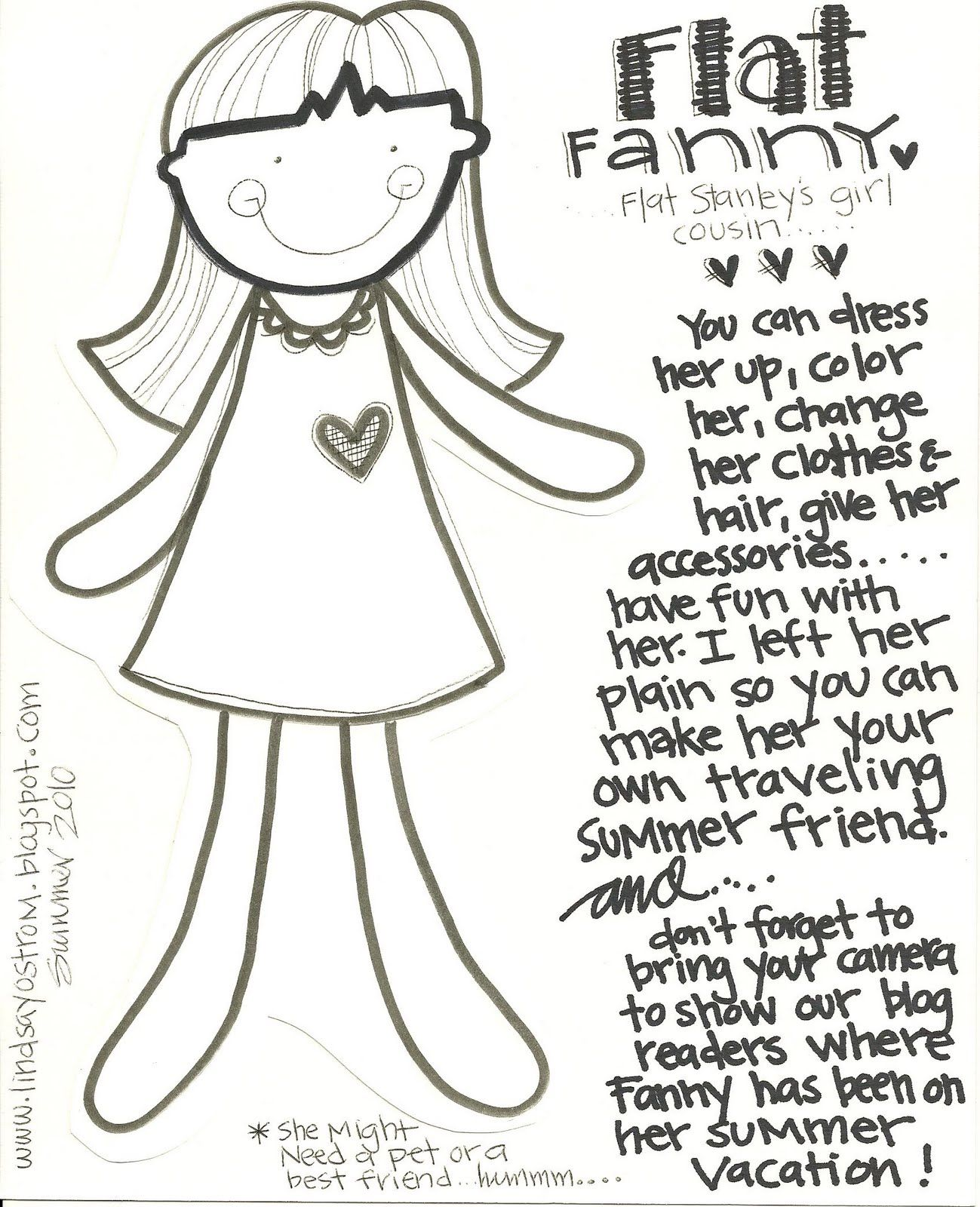 photo relating to Flat Stanley Printable Templates called Flat Stanley Template