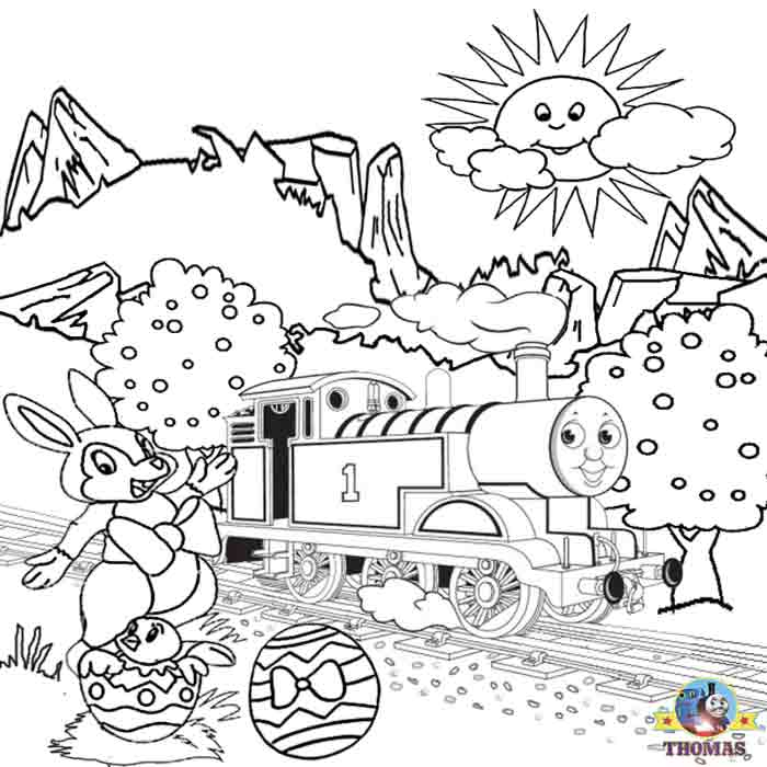 Thomas The Train Easter Coloring Pages - Coloring Home
