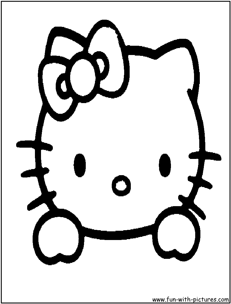 Hello kitty face coloring pages hicoloringpages