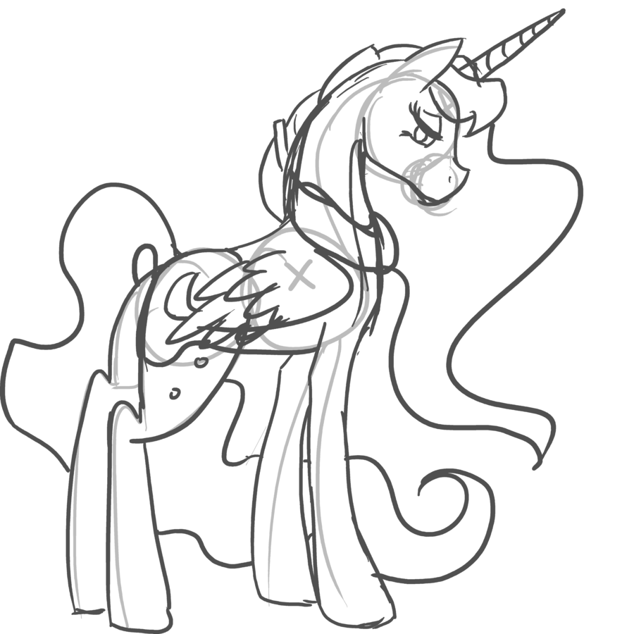 My little pony nightmare moon coloring pages for Mlp coloring pages luna