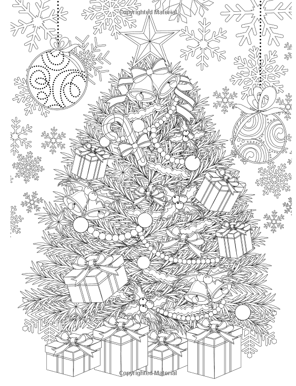 free coloring pages christmas adult - photo#17