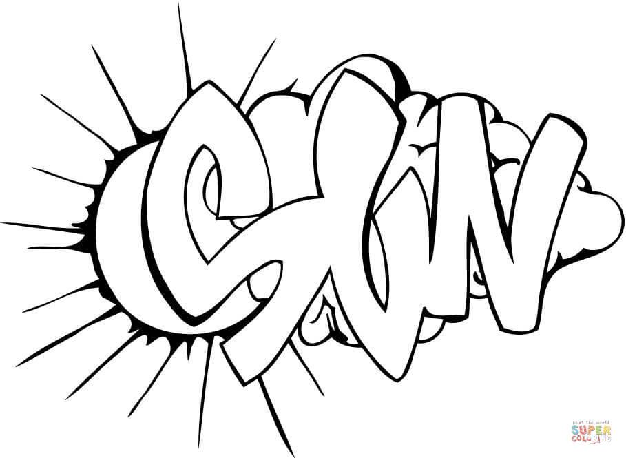 Printable graffiti coloring pages coloring home - Coloriage graffiti ...