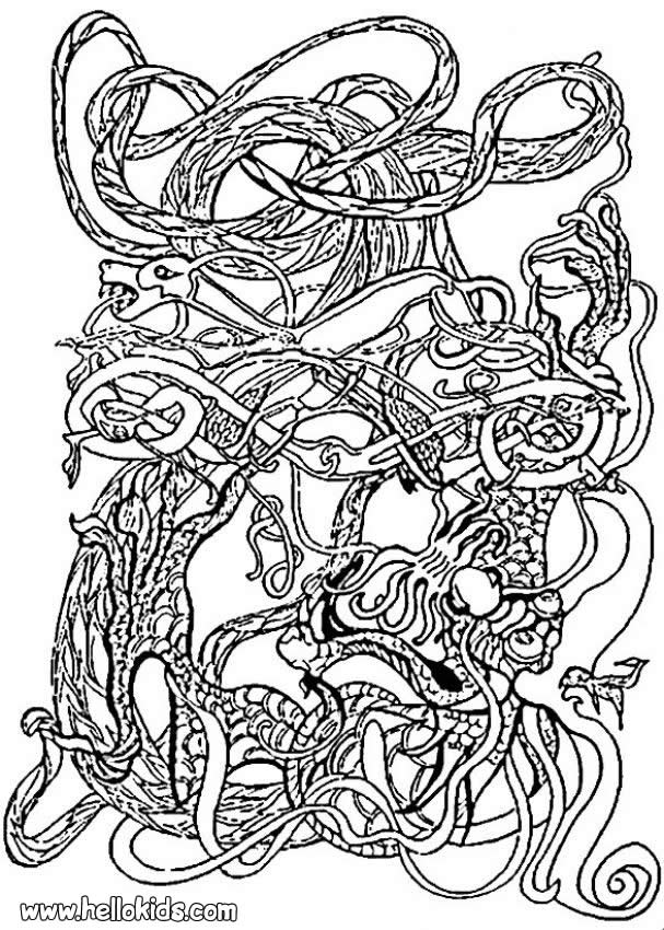 This is a photo of Smart Celtic Coloring Pages For Adults