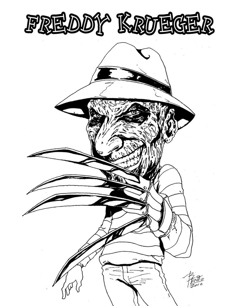Freddy kruger coloring pages ~ Freddy Krueger Coloring Pages - Coloring Home