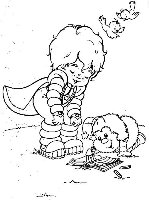 Red Butler Read a Book with Twink in Rainbow Brite Coloring Page ...