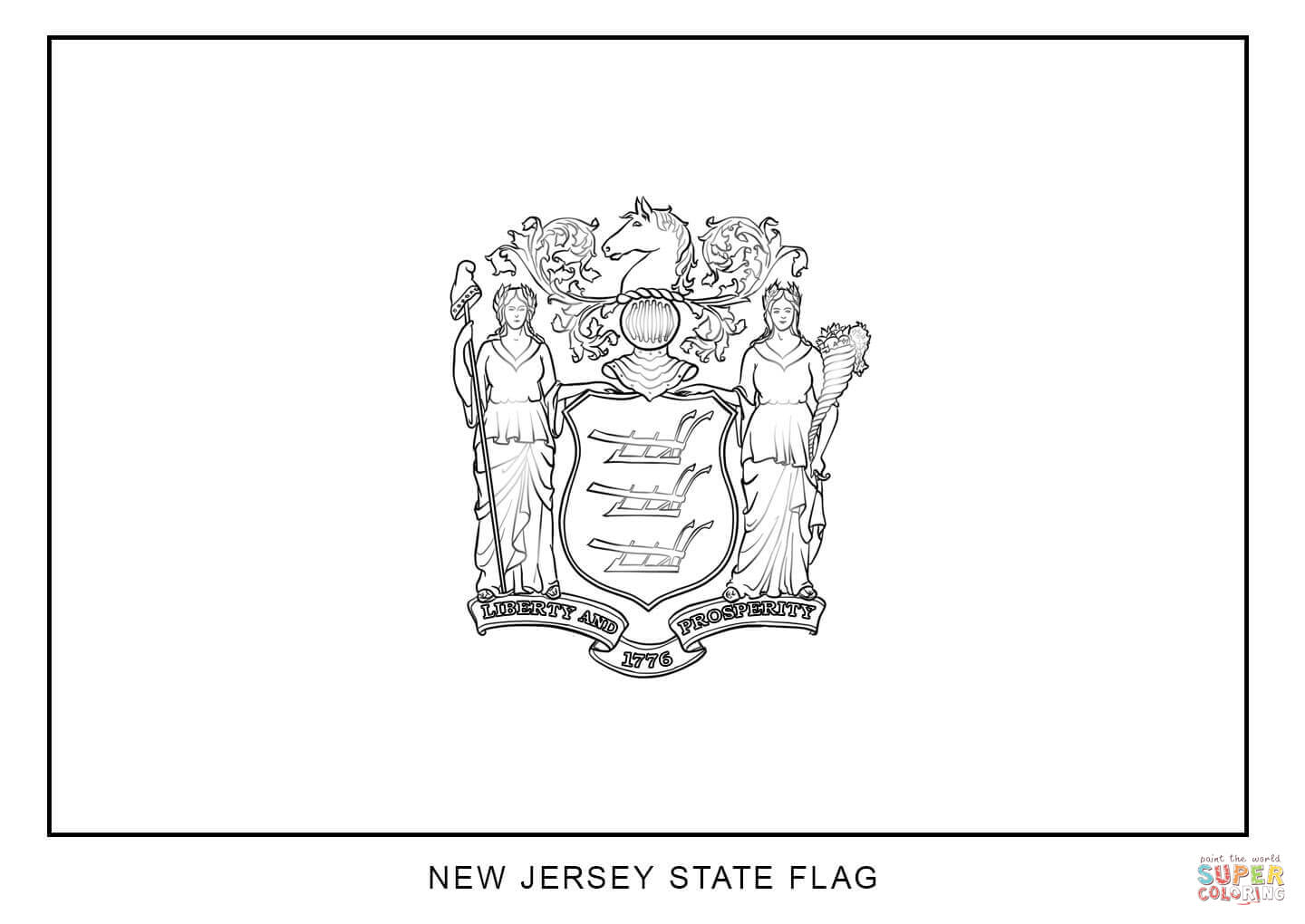 Coloring Pages Of State Flags Coloring Home New Jersey State Flag Coloring Page
