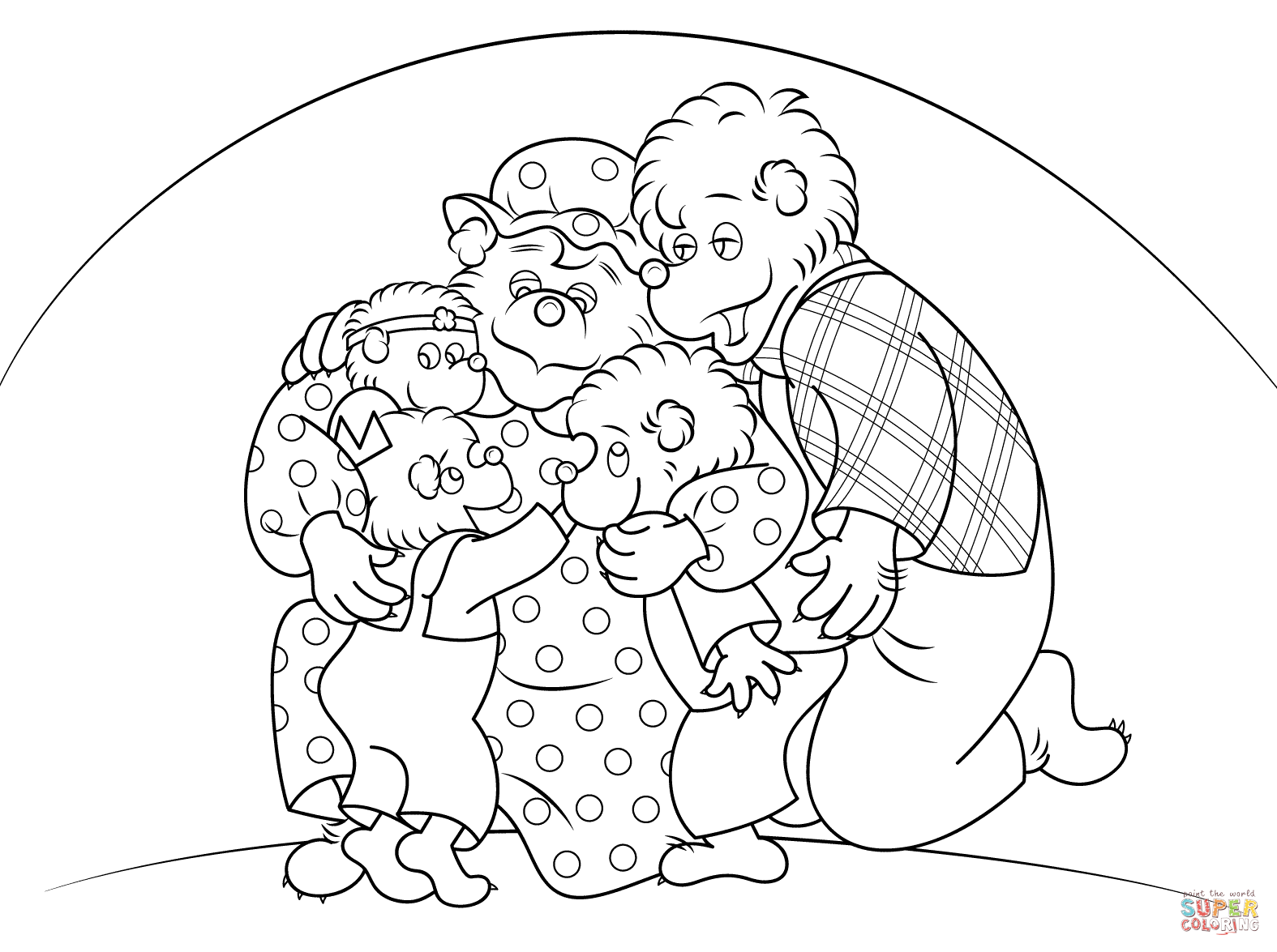 Berenstain Bears Coloring Page - Coloring Home