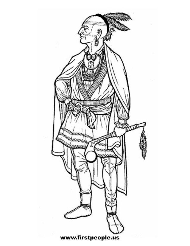 Cherokee Indian Coloring Pages - Coloring Home