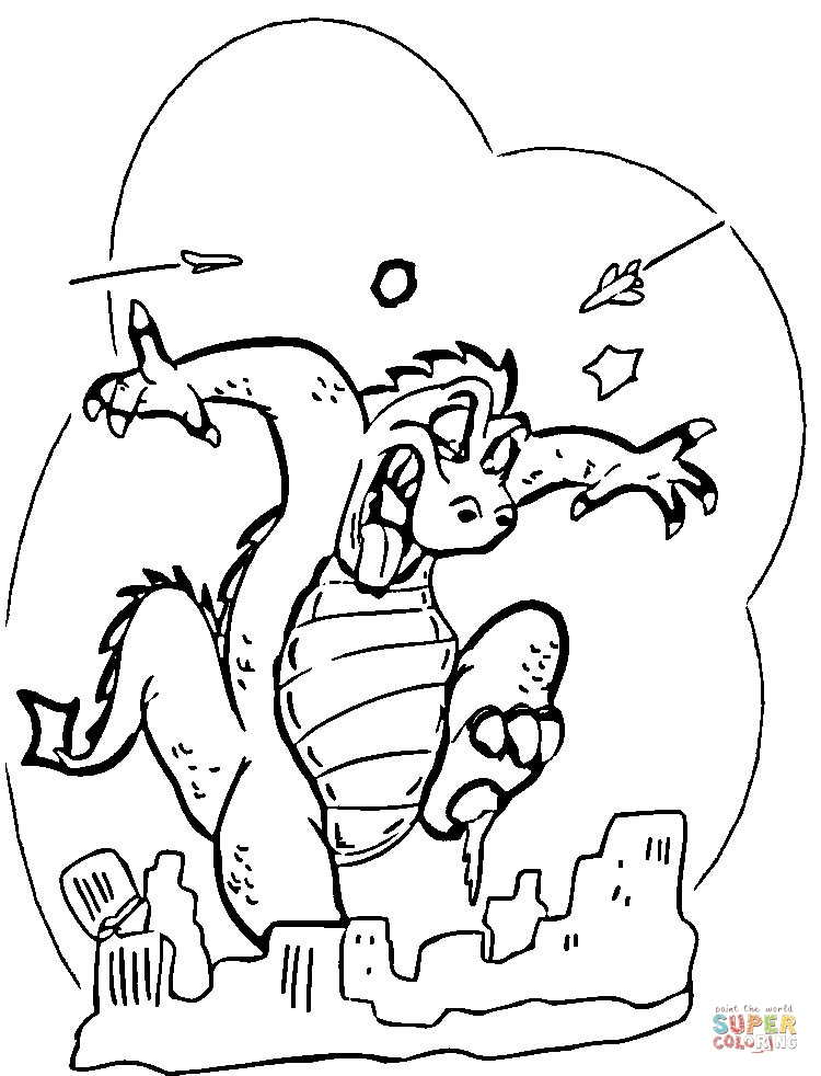 childrens godzilla coloring pages - photo#18