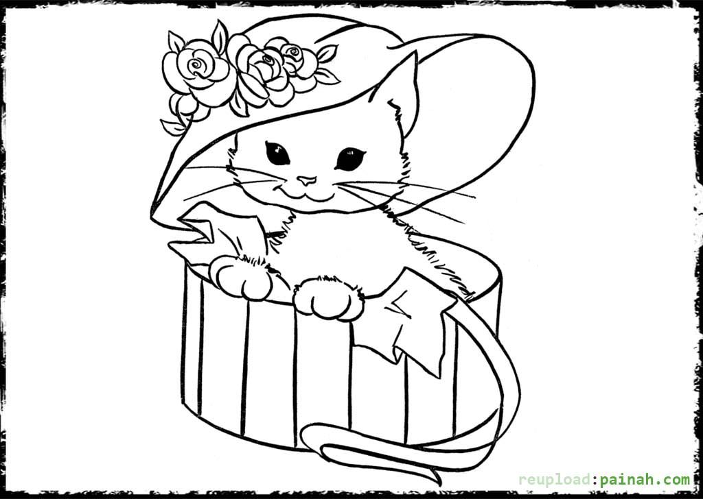 kitten printout coloring pages - photo#34
