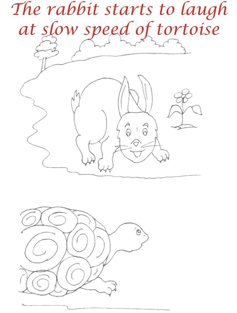 Uncategorized Tortoise And The Hare Coloring Page the tortoise and hare story coloring pages sketch page page