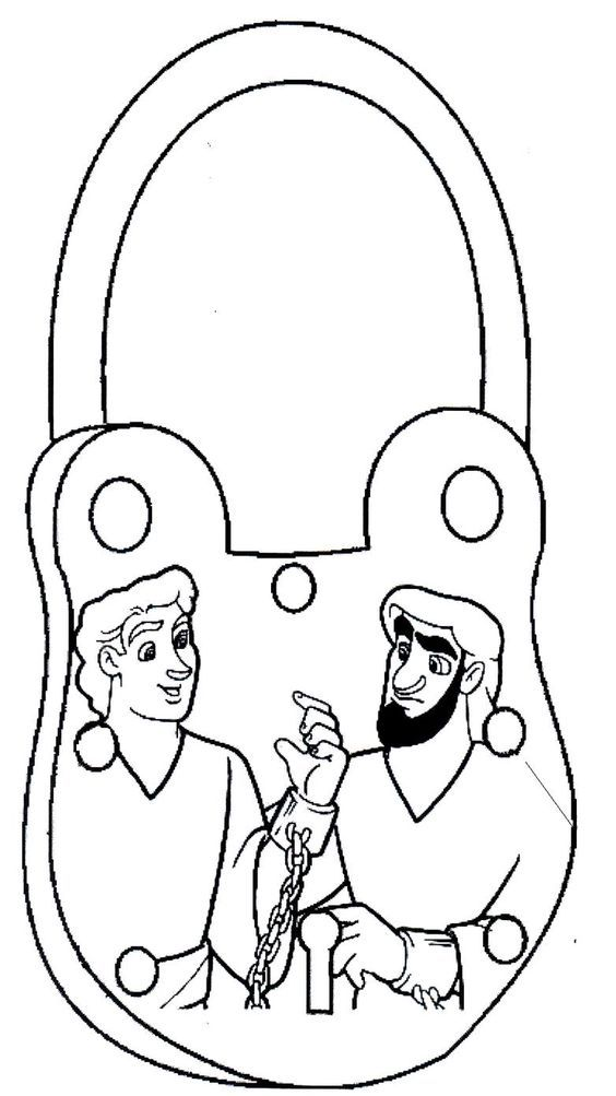 Coloring Page Paul And Silas In Jail