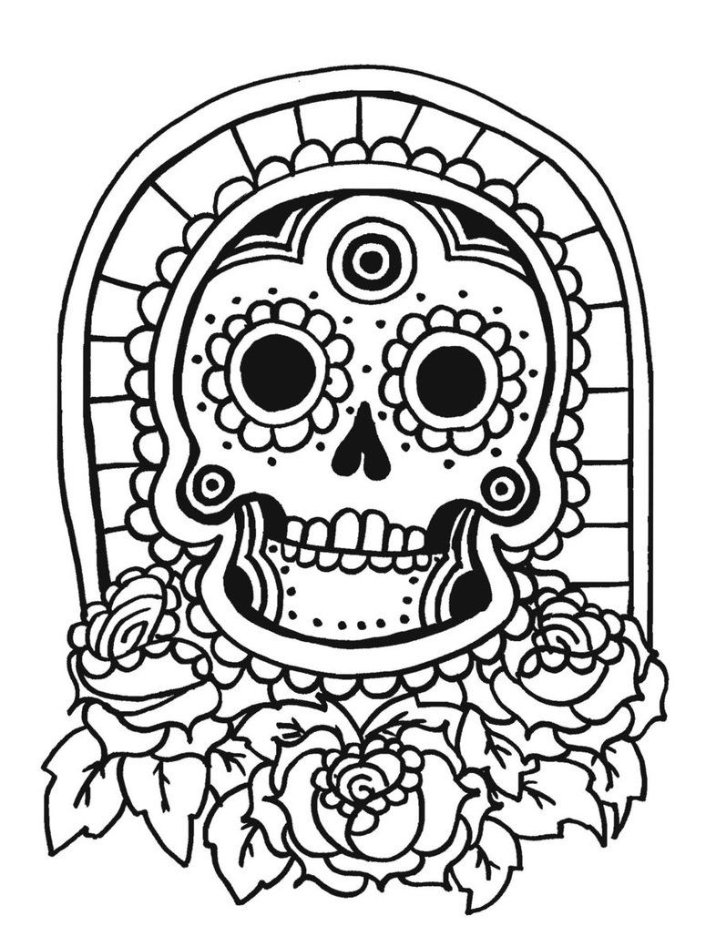 Tiki Mask Coloring Page - Coloring Home