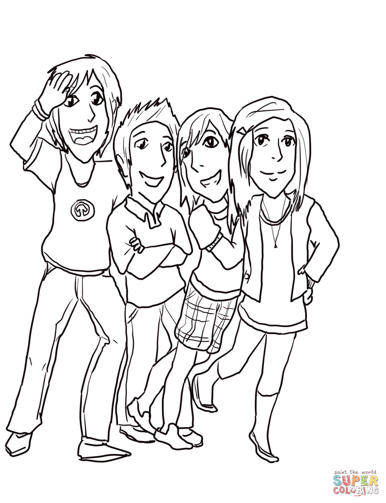 Gibby, Freddie, Sam, And Carla From Icarly - Icarly Coloring ...