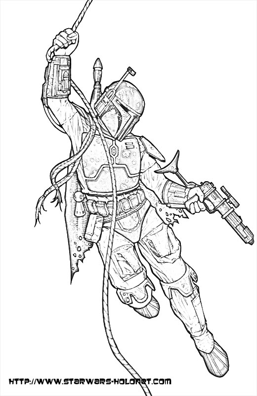 star wars boba fett coloring page - Boba Fett Coloring Pages Printable