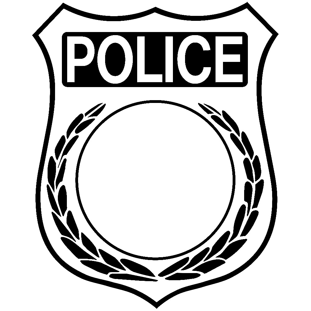 police badge coloring page coloring pages