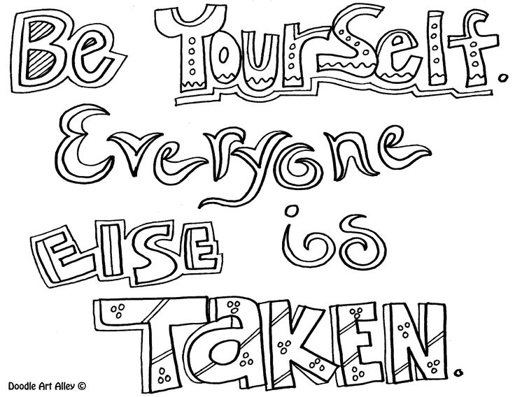 Be Yourself Everyone Else Is Taken - Quote Coloring Pages ...