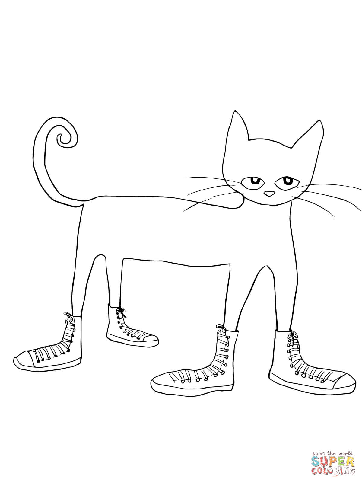pete the cat halloween coloring page coloring home
