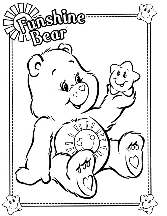funshine cear coloring pages - photo#2