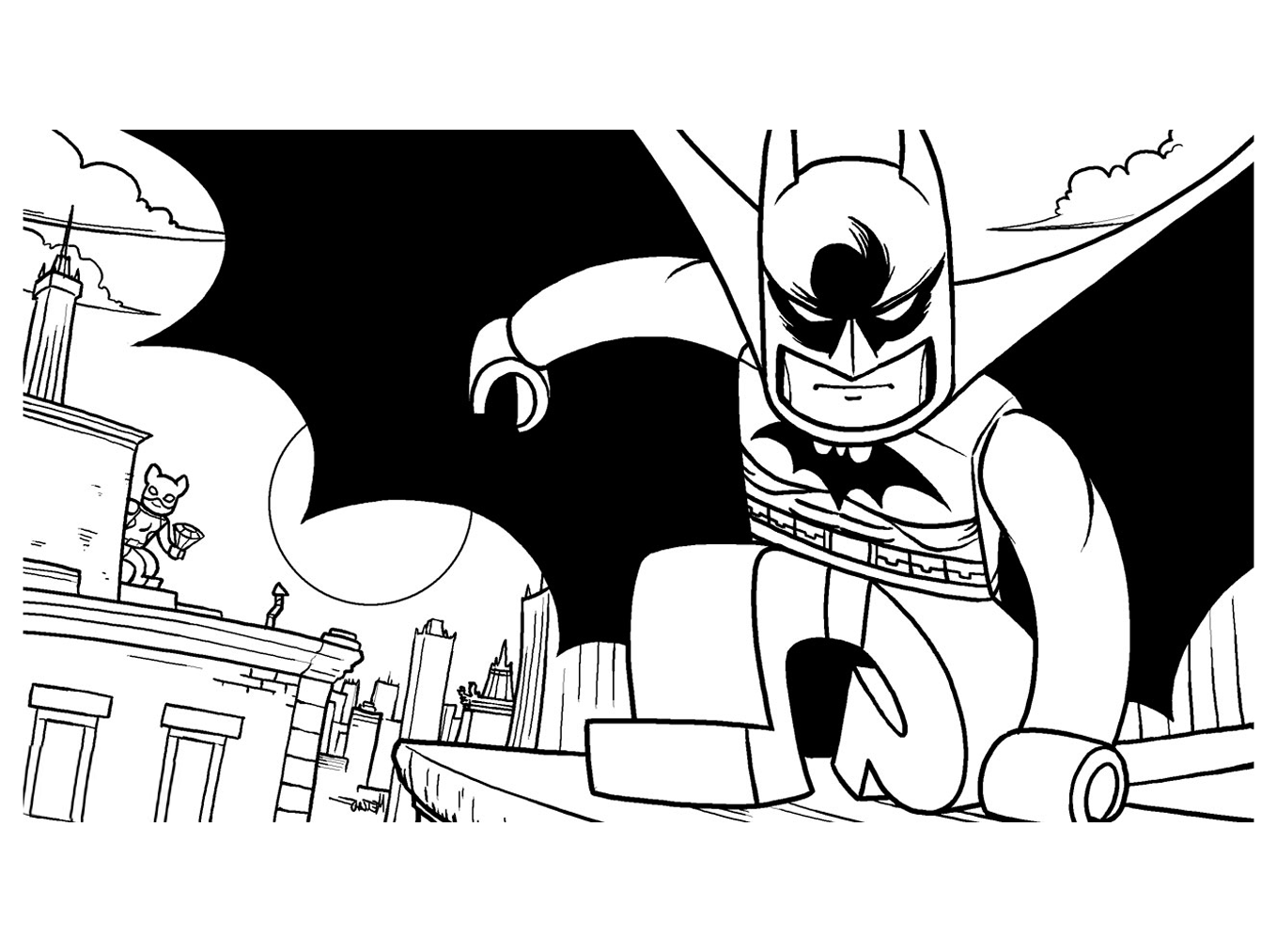 Lego Movie Batman Coloring Pages