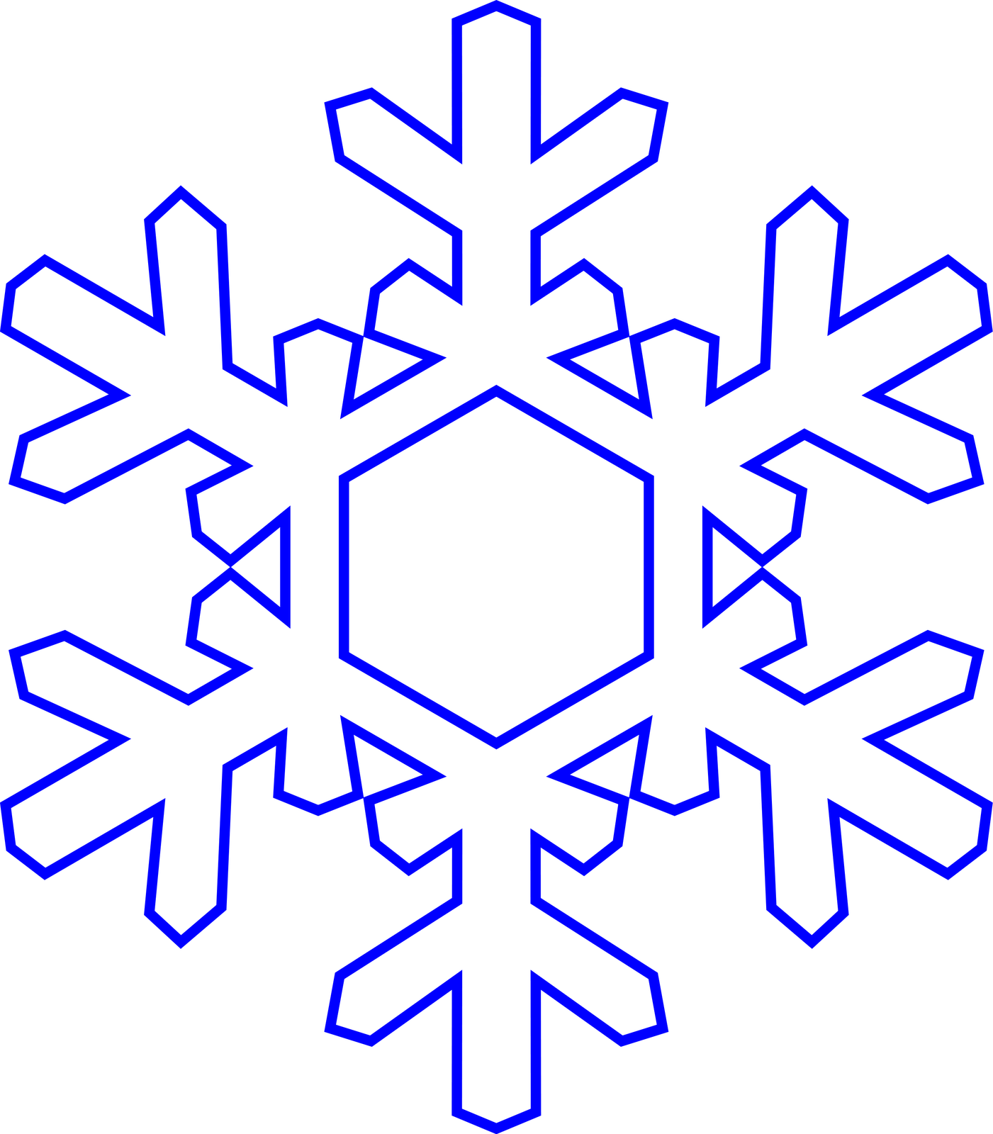 Simple Snowflake Line Art : Simple snowflake coloring pages home