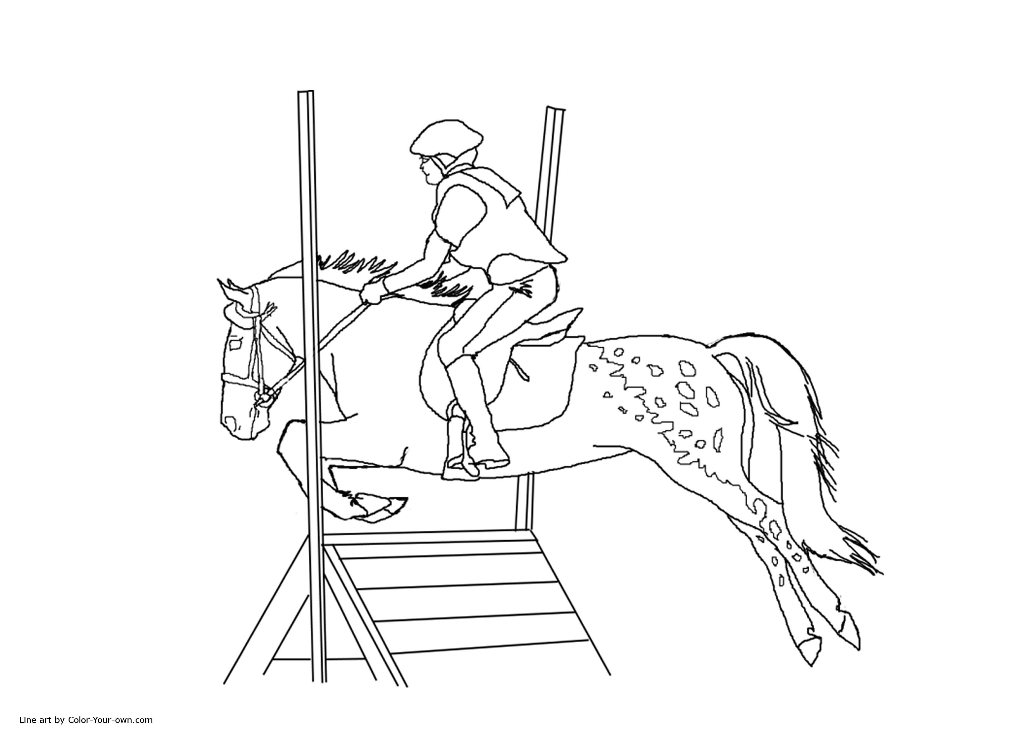 Printable Coloring Pages Horse Show Coloring Home