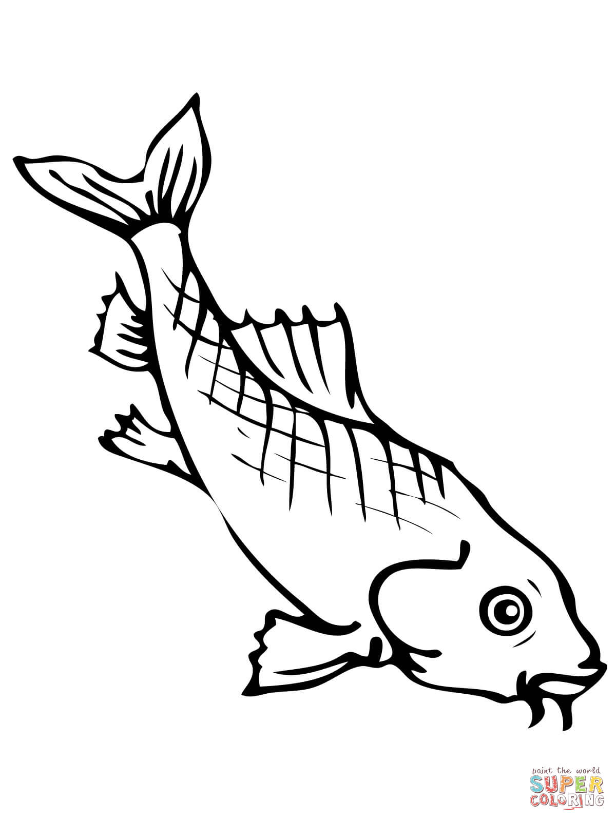 Coloring pages koi fish - Koi Fishes Coloring Page Free Printable Coloring Pages
