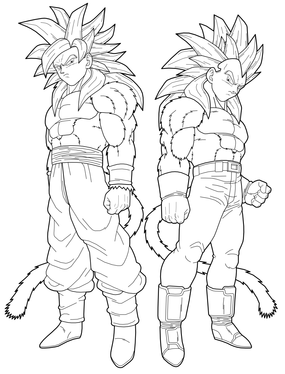 Dragon Ball Z Goku Super Saiyan 4 Coloring Pages Coloring Home