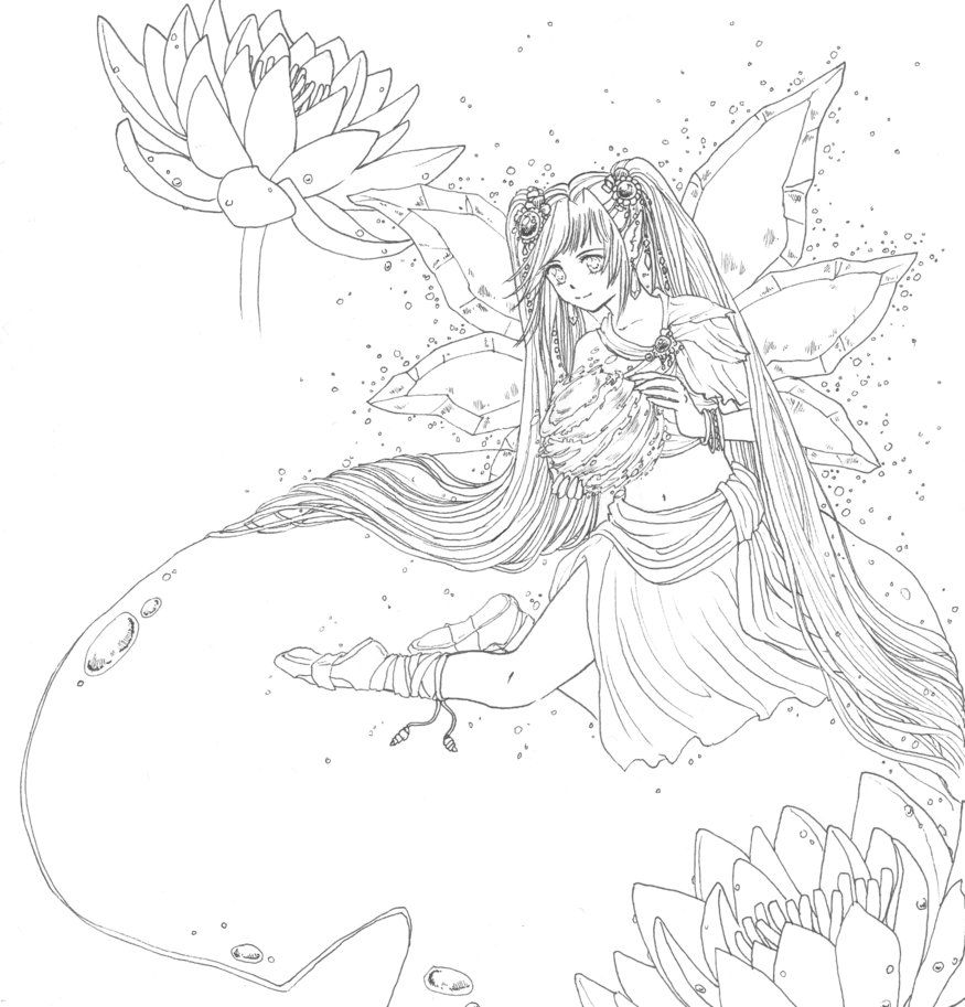 Fantasy Anime Coloring Pages