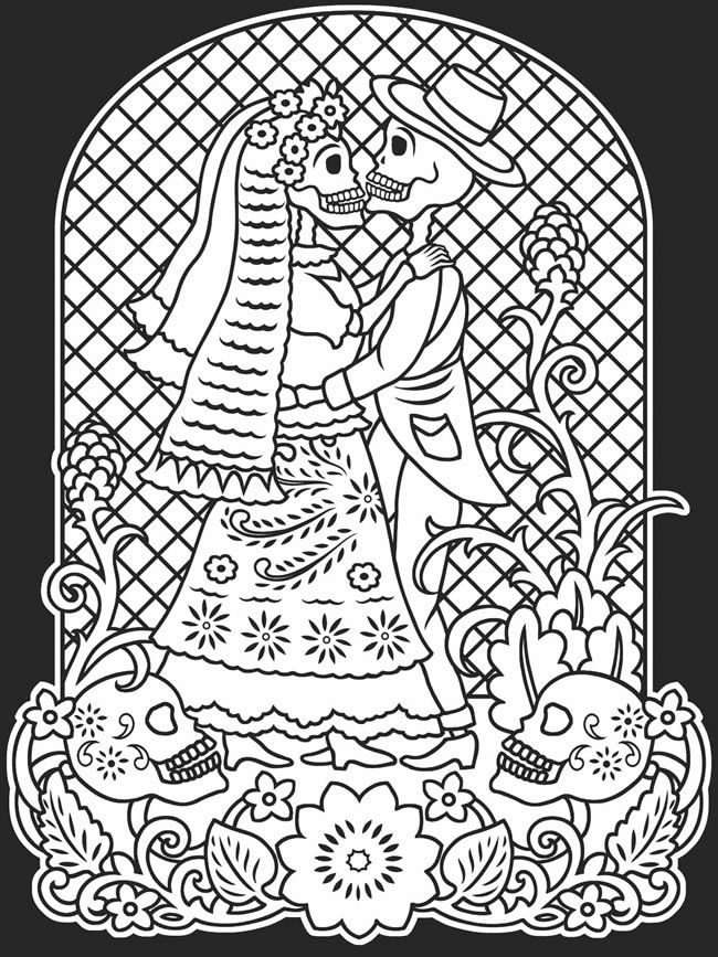 Day Of The Dead Coloring Pages Printable - Coloring Home