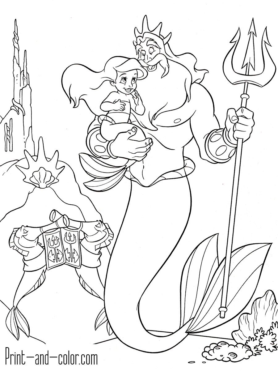 The Little Mermaid 2 Coloring Pages - Coloring Home